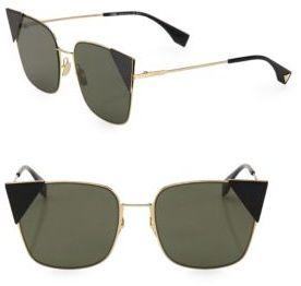 Fendi 55MM Squared Cat's-Eye Sunglasses $535 thestylecure.com