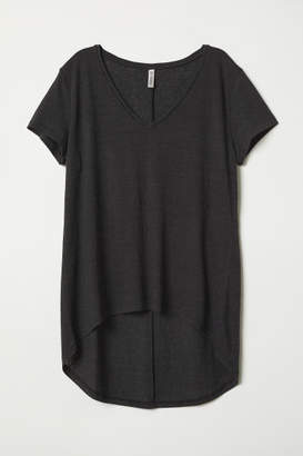 H&M V-neck Jersey Top - Black