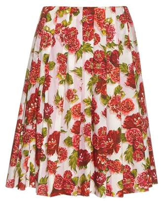 Emilia Wickstead - Polly Floral Print A Line Skirt - Womens - Pink Print
