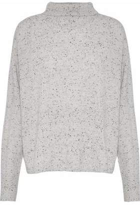Monrow Marled Cashmere Turtleneck Sweater