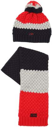 Emporio Armani Wool Knit Hat & Scarf Set