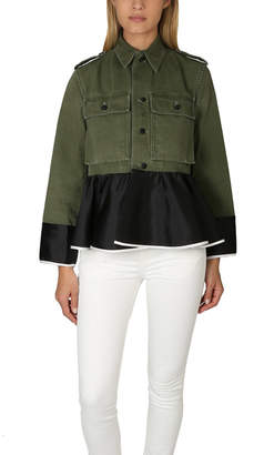 Warehouse Harvey Faircloth OD Field Peplum Jacket