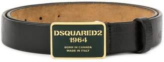 DSQUARED2 logo buckled belt