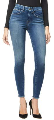 Good American Good Legs Fray Hem High Waist Skinny Jeans
