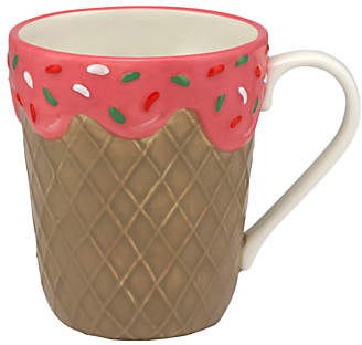 Cath Kidston Ice Cream Mug, Pink/Multi, 400ml