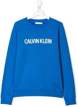 Calvin Klein Kids TEEN logo sweatshirt