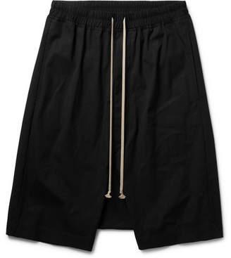 Rick Owens Pod Stretch-Cotton Shorts - Black