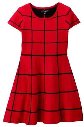 My Michelle mymichelle Windowpane Sweater Dress (Big Girls)