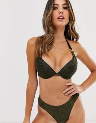 Dorina super push up bikini top in metallic