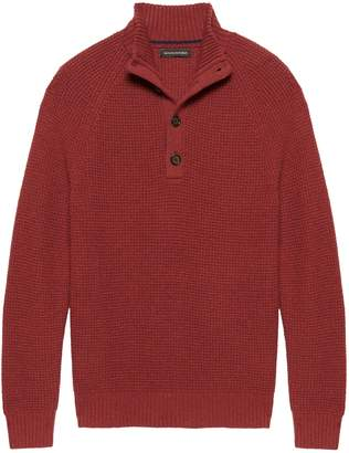Banana Republic Italian Merino Blend Mock-Neck Sweater