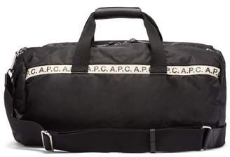 A.P.C. Repeat Logo Gym Bag - Mens - Black