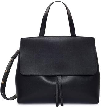 Mansur Gavriel Saffiano Lady Bag - Black/Flamma