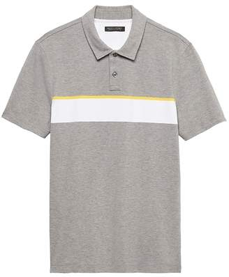 Banana Republic Don't-Sweat-It Wide Chest Stripe Polo