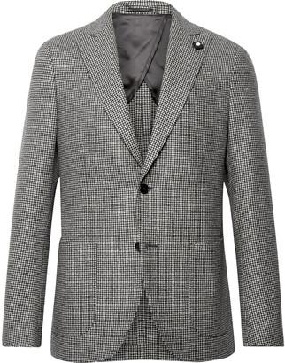 Lardini Slim-Fit Puppytooth Wool Suit Jacket