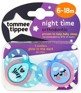 Tommee Tippee Soother Night, 6-18 Months, Color Assorted