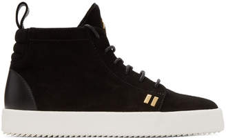 Giuseppe Zanotti Black Suede May London High-Top Sneakers