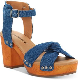 Lucky Brand Whitneigh Wooden Platform Sandals Women's Shoes