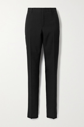 Saint Laurent Wool-gabardine Slim-leg Pants - Black