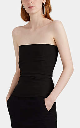 Rick Owens Women's Cotton-Blend Strapless Bustier Top - Black