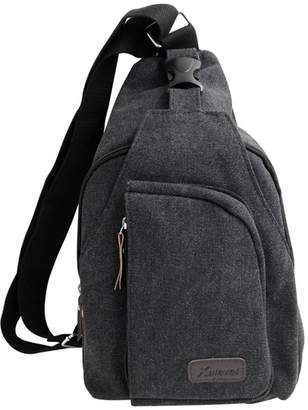 Kaeve Sing Bag Chest Bags Back Shouder Bag Men Canvas Bags Pack Shouder Backpack Coo Backpack Outdoor Backpack Crossbody Backpacks Canvas Shouder Bag Sing Bags for Men (, Back)
