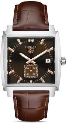 Tag Heuer Monaco Diamond Watch, 37mm x 36mm