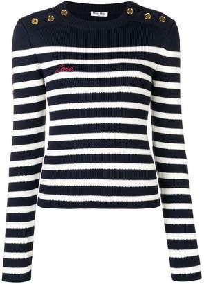 Miu Miu striped rib-knit jumper