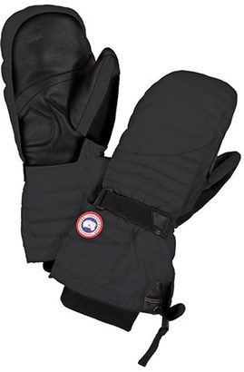 Women's Canada Goose Waterproof Down Mittens $150 thestylecure.com