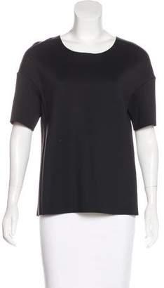 J Brand Neoprene Short Sleeve Top