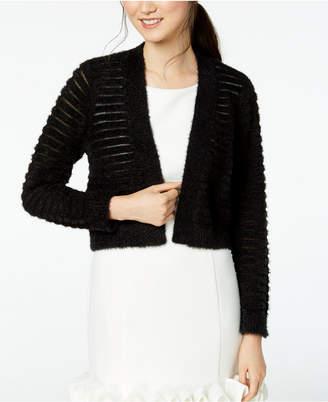Calvin Klein Shadow-Stripe Cropped Cardigan