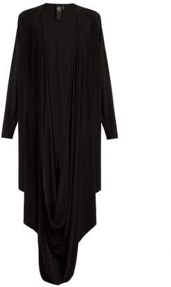Norma Kamali Draped Jersey Cardigan - Womens - Black