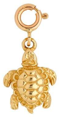 14K Yellow Gold 3-D Turtle Charm
