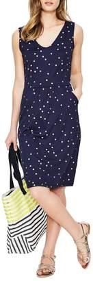 Boden Melinda Metallic Dot Jersey Sheath Dress