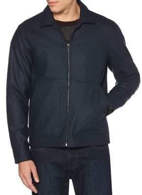 Perry Ellis Nubuck Bomber Jacket