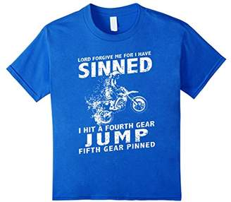 Funny Dirt Bike Shirt - Lord Forgive Me For I Have Sinned