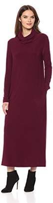 Norma Kamali Women's Oversized Turtleneck Midcalf Dress