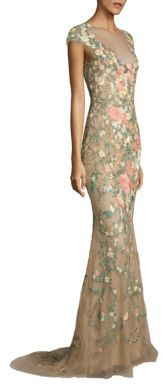 Marchesa Floral Embroidered Gown $7,995 thestylecure.com