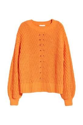 H&M Knit Chenille Sweater - Light blue - Women