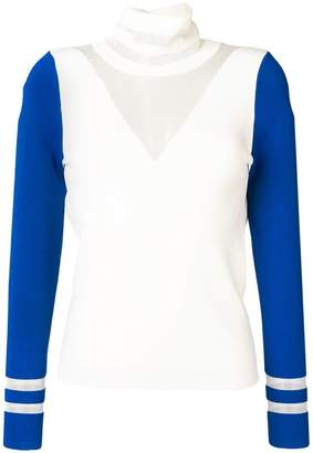 Pinko contrast turtle-neck top