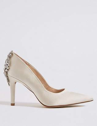 Marks and Spencer Stiletto Heel Jewel Back Court Shoes