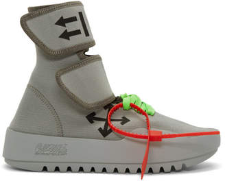Off-White Off White Grey Moto Wrap High-Top Sneakers