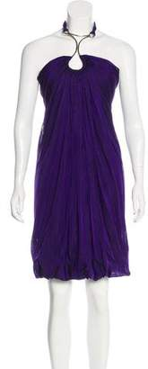 Kaufman Franco Kaufmanfranco Silk Halter Dress