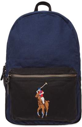 Polo Ralph Lauren Polo Player Canvas Backpack 18fbfb5288d7e