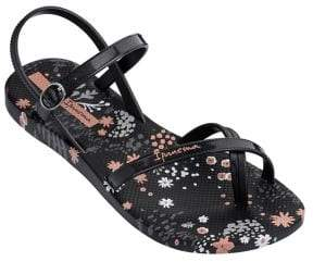 Ipanema Floral PVC Toe-Ring Sandals