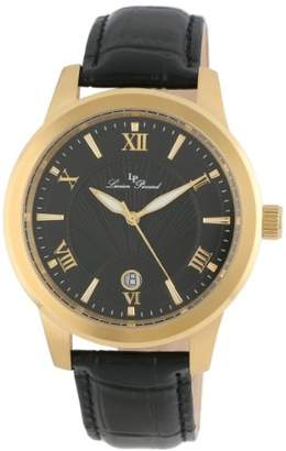 Lucien Piccard Men's LP-10046-YG-01 Textured Dial Leather Watch