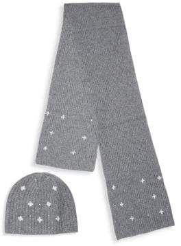 Portolano Two-Piece Embellished Beanie & Scarf Set