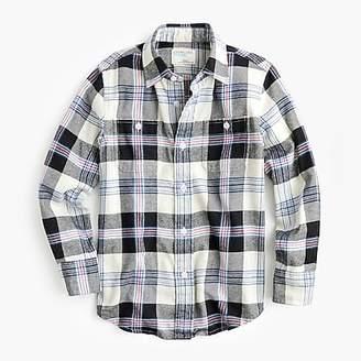 J.Crew Boys' lightweight flannel shirt in gray plaid