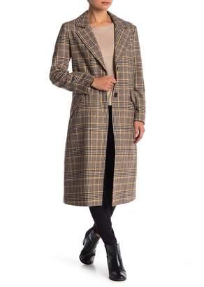 Urban Republic Plaid Print Wool Blend Jacket