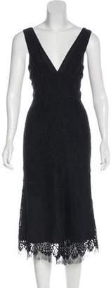 Victoria Beckham Wool-Blend Lace Dress