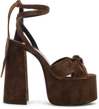 Saint Laurent Platform Sandals in Land | FWRD