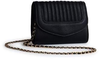 Delage - Leather Clutch Bag Jeanne PM Black